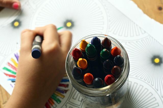 malování voskovkami