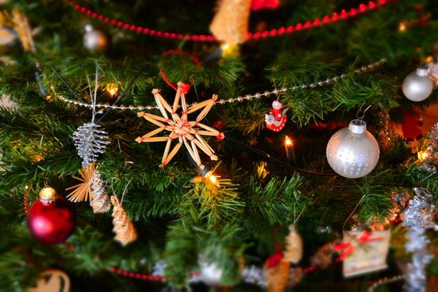 vánoční baňky, dekorace